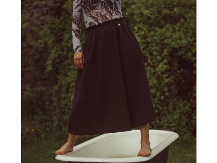 Mušelínová sukně summer MIDI black