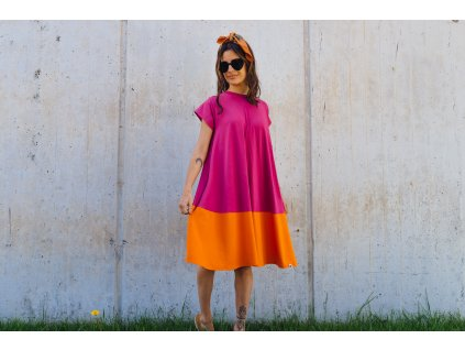 Šaty Nika Cherry/Orange