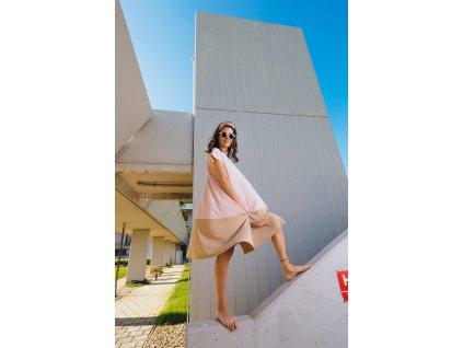 Šaty Nika Pink/Beige