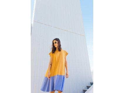 Šaty Nika Yellow/Lila