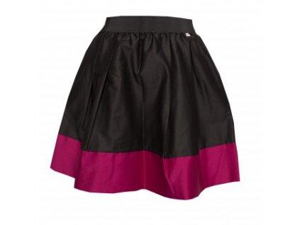 áčková sukně Tricol black s růžovým lemem