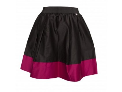 áčková sukně Tricol black s růžovým lemem 13be347684