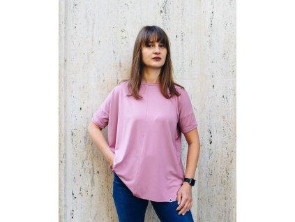 Viskózové tričko Pink