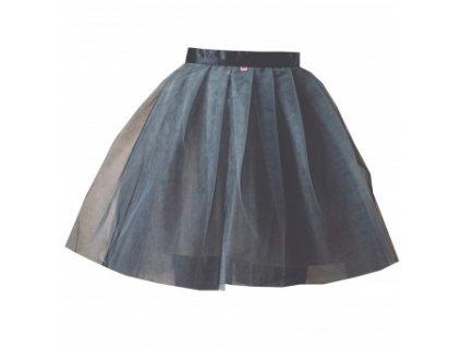 tylová sukně TUTU black and white