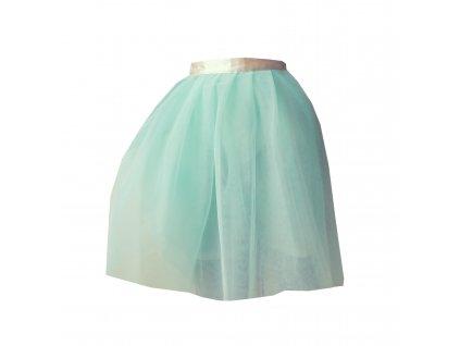 tylová sukně TUTU cream and green