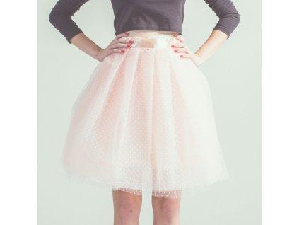tylová sukně TUTU Cream dots