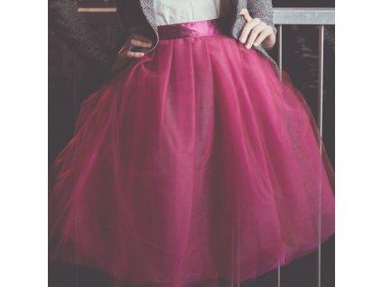 tylová sukně TUTU Dark Pink
