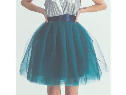 tylová sukně TUTU Aquamarine