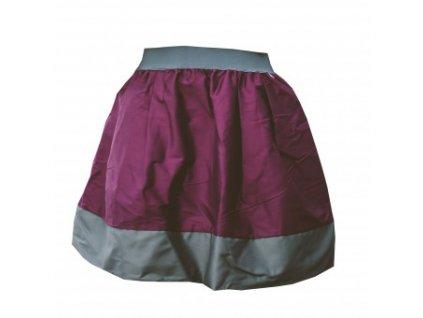 áčková sukně Tricol wine šedý lem