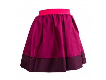 áčková sukně Tricol pink vínový lem