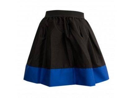 áčková sukně Tricol black královsky modrý lem
