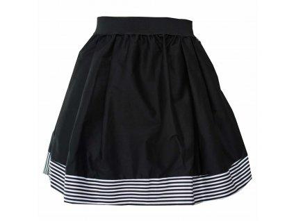 86fc95622ce áčková sukně Stripes black s černou gumou