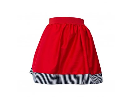 áčková sukně Stripes red s červenou gumou