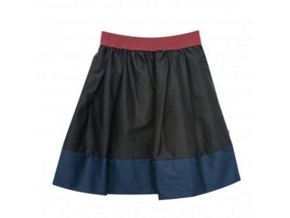 áčková sukně Tricol black modrý lem