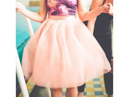 tylová sukně TUTU coral