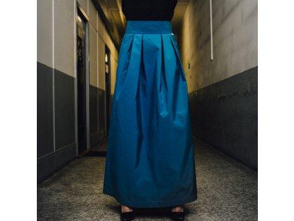 Dlouhá elegantní sukně Katsu blue