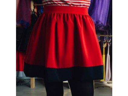 áčková sukně Tricol poly red modrý lem