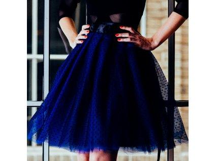 tylová sukně TUTU Blue Dots