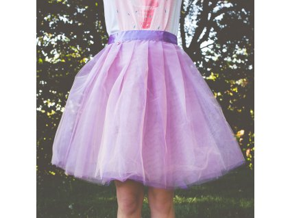 tylová sukně TUTU Lilac