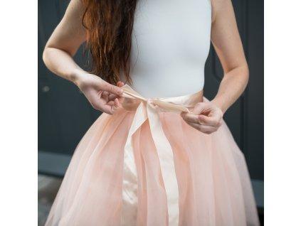 tylová sukně TUTU apricot