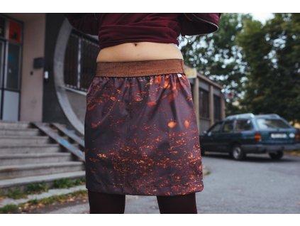 áčková sukně Autumn forrest bronz
