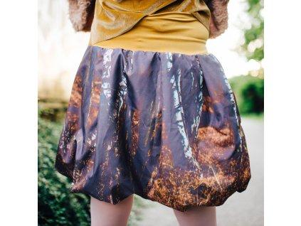 balonová sukně Autumn trees mustard