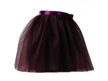 tylová sukně TUTU Plum