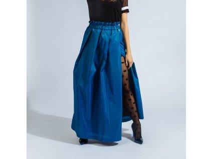 Dlouhá elegantní sukně Katsu blue s rozparkem