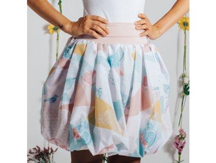 balonová sukně Birdie pink