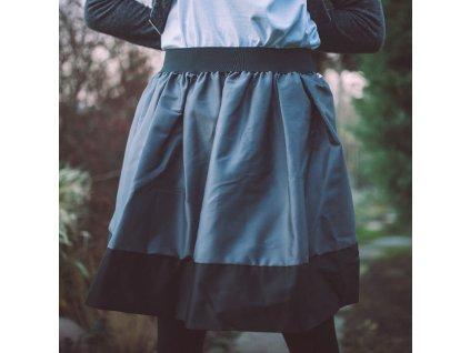 áčková sukně Tricol grey černý lem