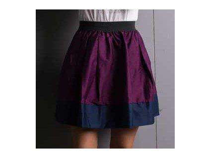 áčková sukně Tricol wine modrý lem