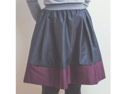 áčková sukně Tricol blue vínový lem
