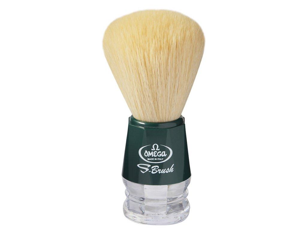 Omega S10018 zelená štětka na holení ze syntetických vláken