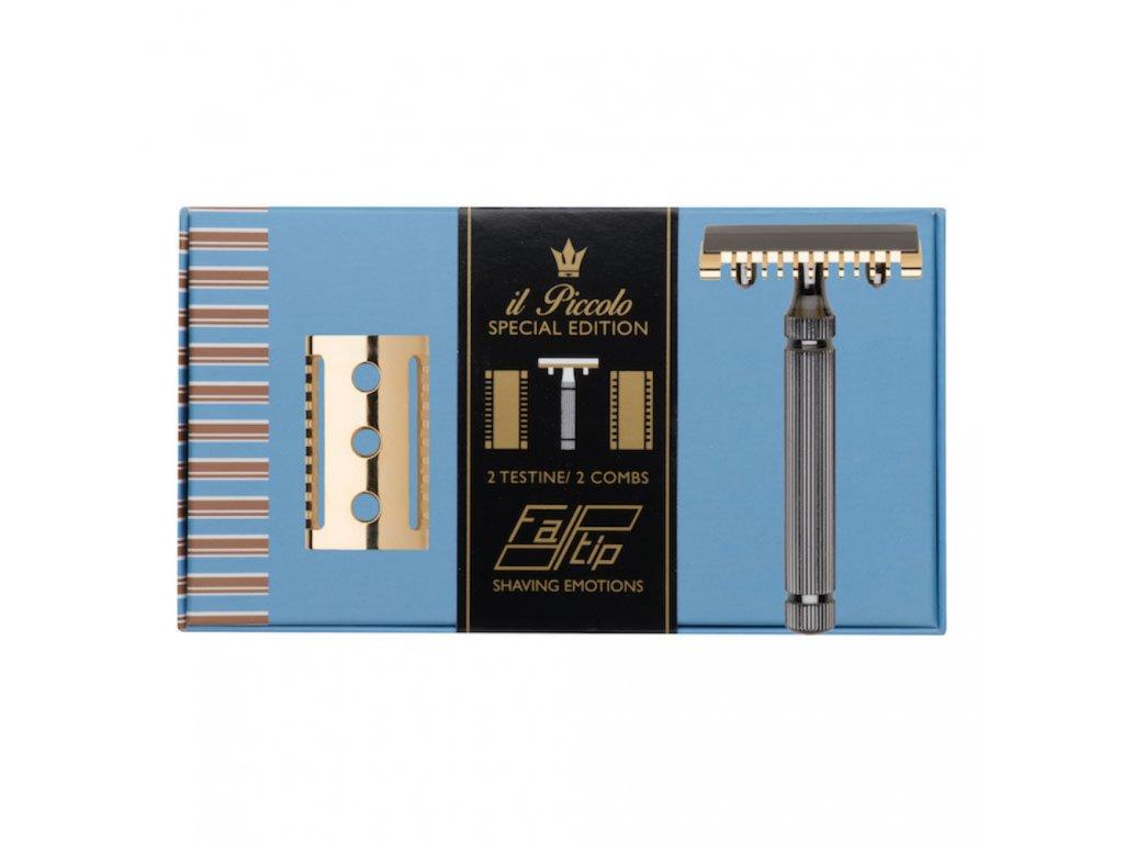 luxusní holicí strojek Fatip Piccolo Special Edition Box