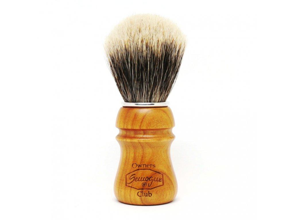 Semogue Owners Club štětka na holení z jezevčích štětin (třešeň)