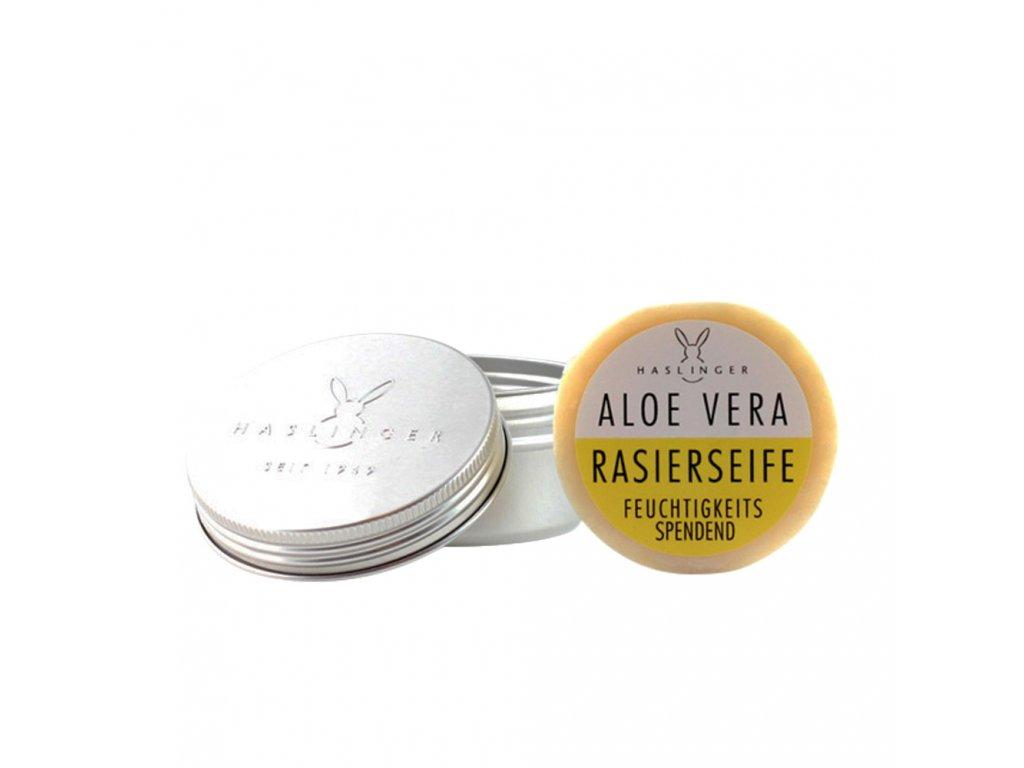 Haslinger Aloe Vera mýdlo na holení v hliníkové dóze