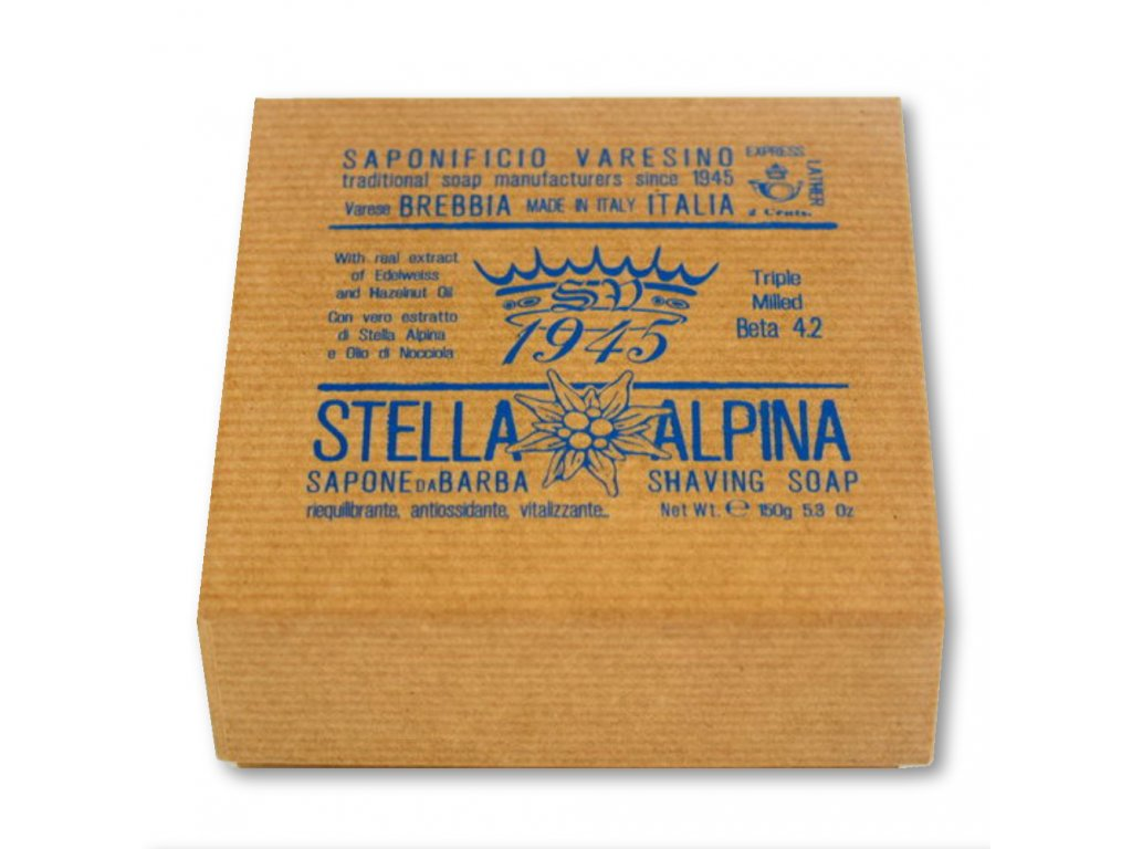 Saponificio Varesino Stella Alpina mýdlo na holení