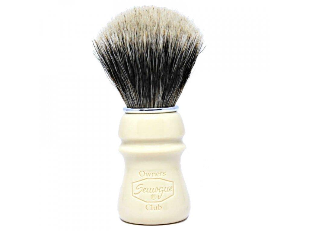Semogue Owners Club štětka na holení z jezevčích štětin (taj)
