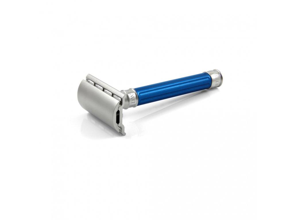 holicí strojek Edwin Jagger 3ONE6 Stainless Steel Blue