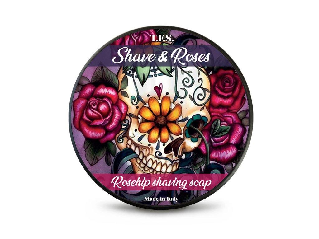 Tcheon Fung Sing Shave&Roses mýdlo na holení - Rosehip