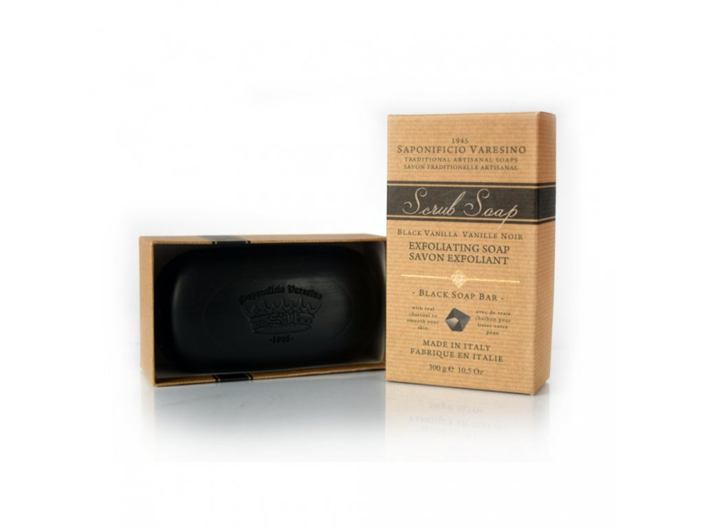 Saponificio Varesino Scrub toaletní mýdlo - Black Vanilla