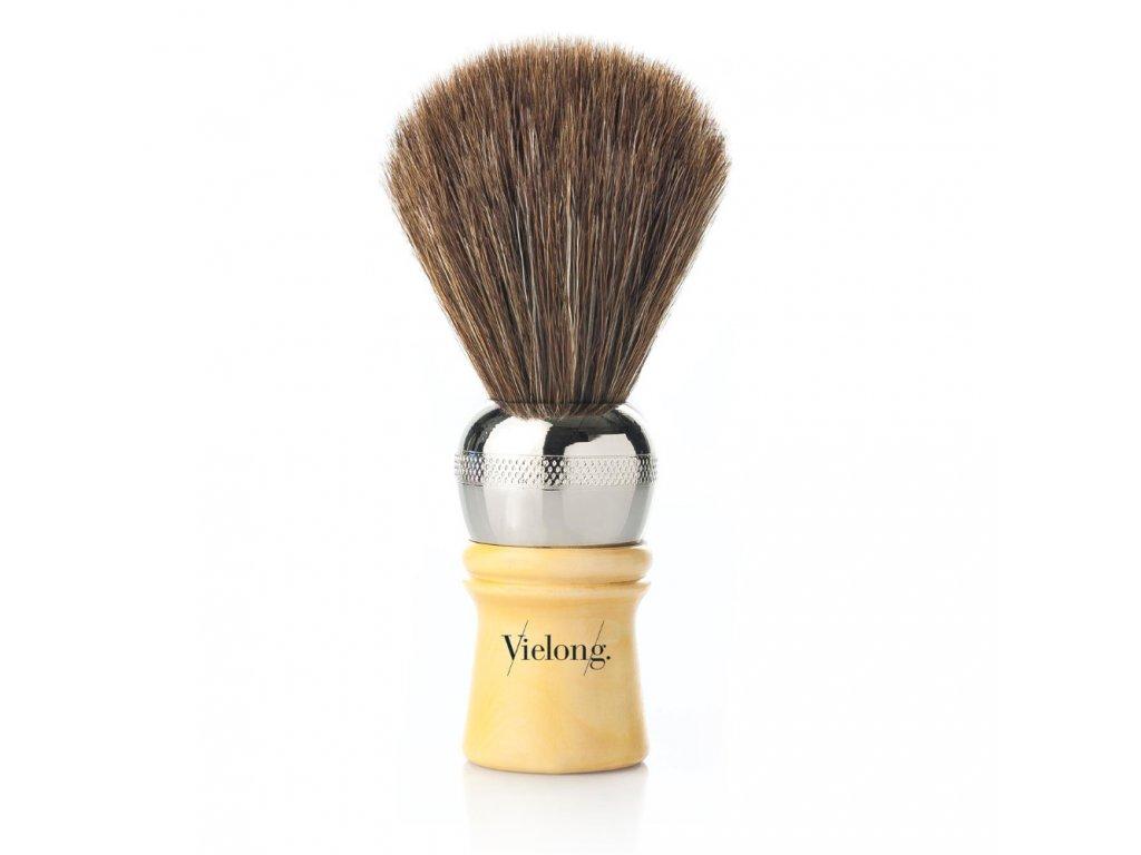 Vielong Professional Española štětka na holení z koňských žíní - hnědá