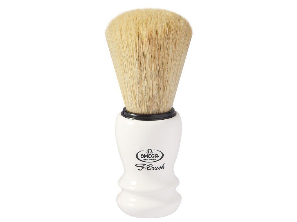 Omega S10108 bílá štětka na holení