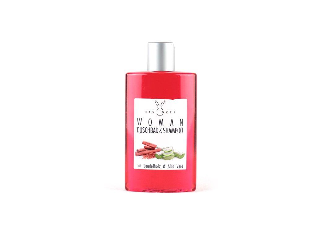 Haslinger dámský sprchový gel a šampon - Santal & Aloe Vera