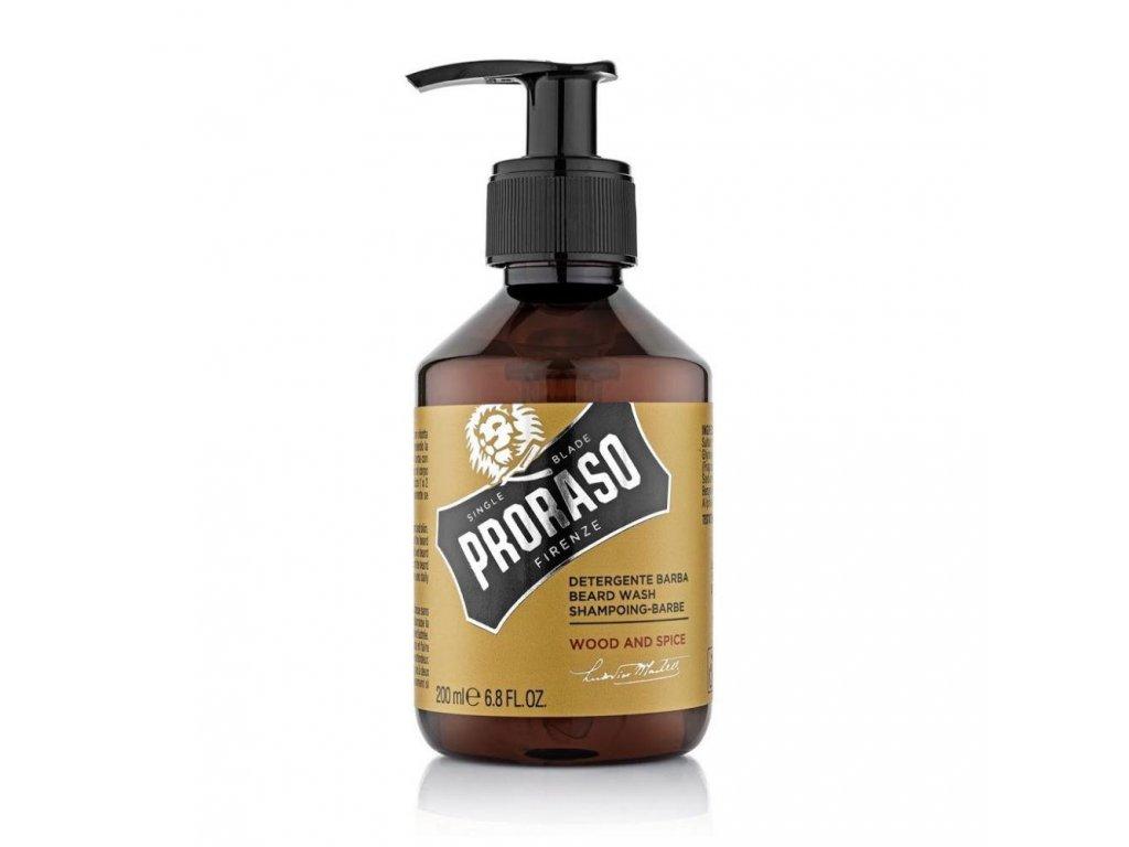 Proraso Beard Wash Wood&Spice sampon-cz.nomorebeard.com