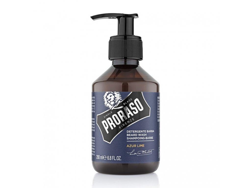 Proraso Beard Wash Azure Lime sampon-cz.nomorebeard.com