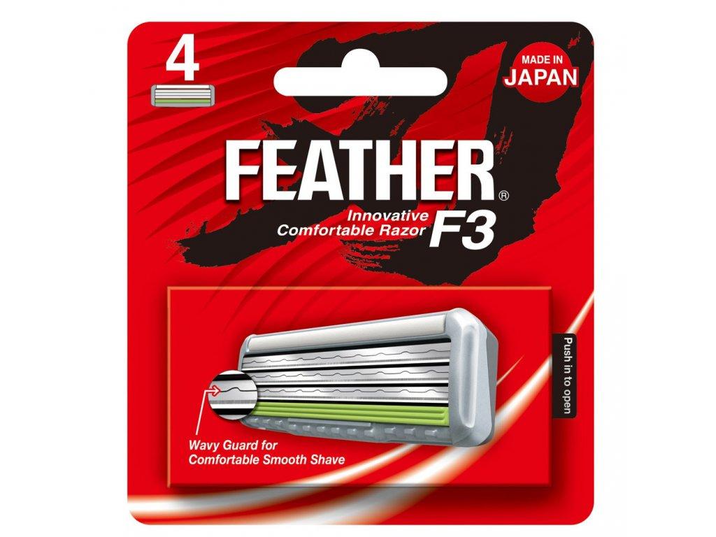Feather F3 náhradní břity 4pcs