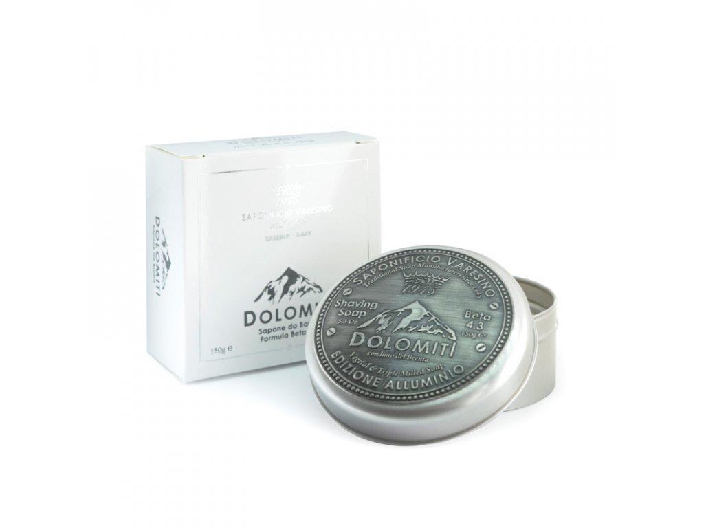 Saponificio Varesino Dolomiti mýdlo na holení v hliníkové dóze