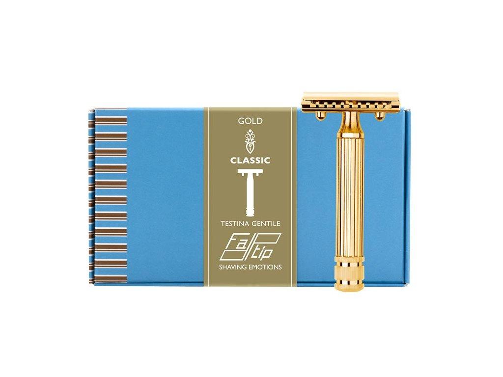 holicí strojek s plnou lištou Fatip Grande Testina Gentile Gold