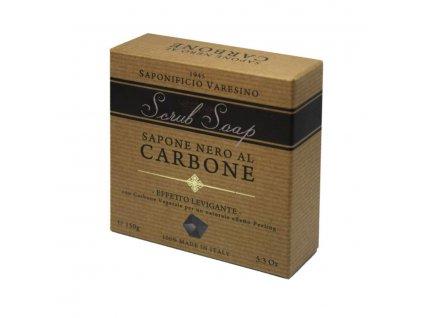 Saponificio Varesino Scrub toaletni mydlo Carbone 150g-cz.nomorebeard.com